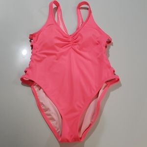 Coco Rave Hot Pink One Piece Swimsuit Sz M